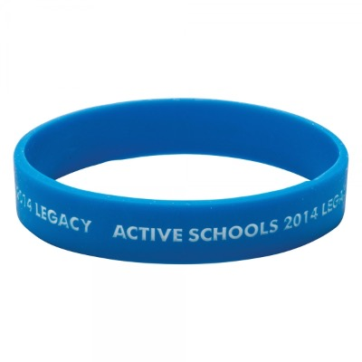 Image of Silicone Wristband (Adult: Recessed & Infilled Design)