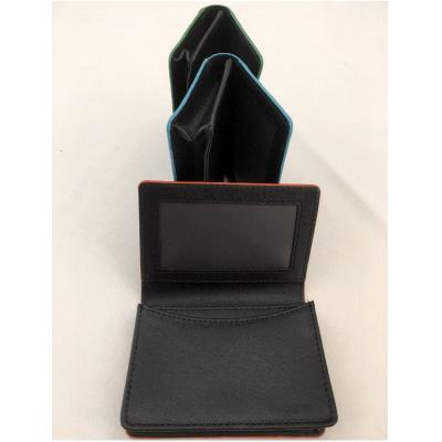 Image of Saffiano Genuine Leather Business Card Holder