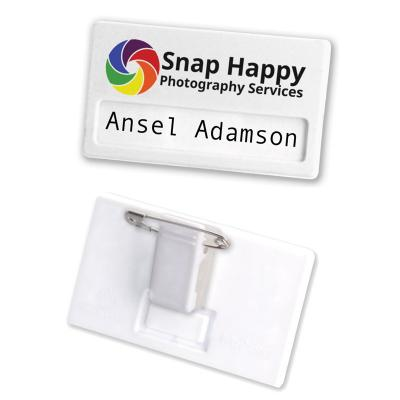 Image of Recycled Name Badge - Combi Clip